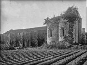 Absidioles de l'église abbatiale et Galerie Est de l'abbaye de la Grainetière