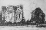 Carte postale représentant les absidioles de l'église abbatiale de l'abbaye de la Grainetière