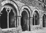 Entrée de la salle capitulaire pendant sa restauration