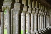 Colonnes du cloître ouest de l'abbaye