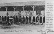 Cloître de la galerie ouest de l'Abbaye de la Grainetière