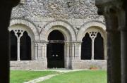Entrée de la salle capitulaire, vue du cloître